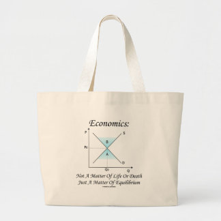 Economics Not Matter Of Life Or Death Equilibrium Tote Bags