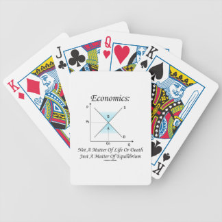 Economics Not Matter Of Life Or Death Equilibrium Bicycle Playing Cards