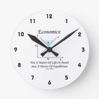 Economics Not Matter Of Life Or Death Equilibrium Wall Clocks