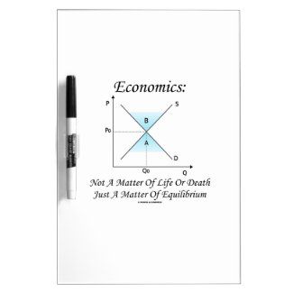 Economics Not Matter Of Life Or Death Equilibrium Dry-Erase Boards