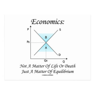 Economics Not Matter Of Life Or Death Equilibrium Postcard