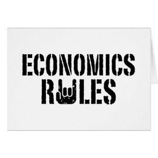 Economics Rules Card