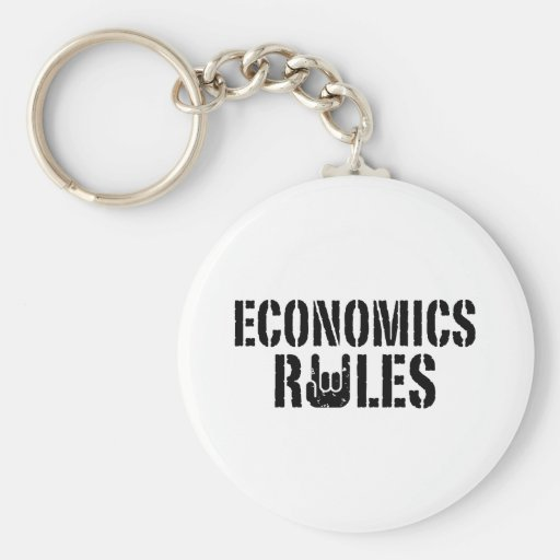 Economics Rules Keychain
