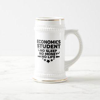 Economics Student No Sleep No Money No Life Beer Stein