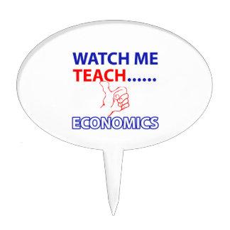 ECONOMICS teacher design Cake Topper