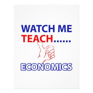 ECONOMICS teacher design Letterhead