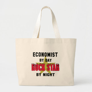 Economist by Day rockstar by night Large Tote Bag