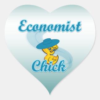 Economist Chick #3 Heart Sticker