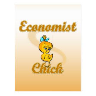 Economist Chick Postcard