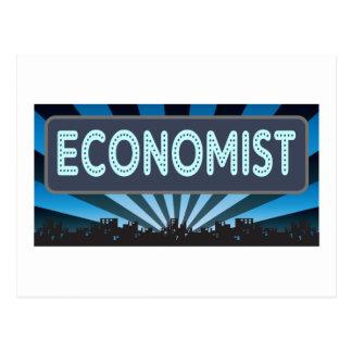 Economist Marquee Postcard