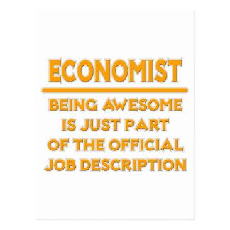 Economist .. Official Job Description Postcard