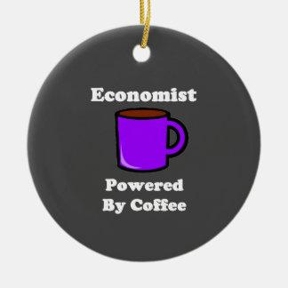"""Economist"" Powered by Coffee Ceramic Ornament"