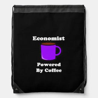 """Economist"" Powered by Coffee Drawstring Bag"