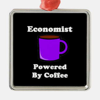 """""""Economist"""" Powered by Coffee Metal Ornament"""