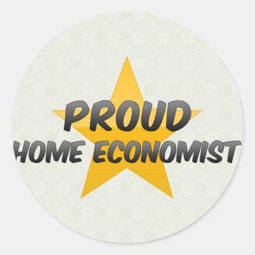 Economista casero orgulloso pegatina redonda