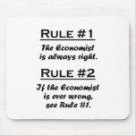 Economista de la regla alfombrillas de raton