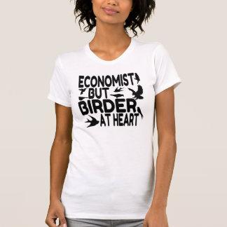 Economista del amante del pájaro camiseta