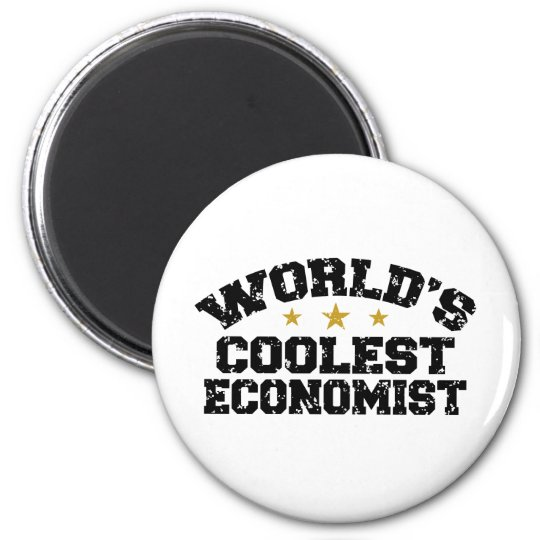 Economista divertido imán redondo 5 cm