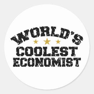 Economista divertido pegatina redonda