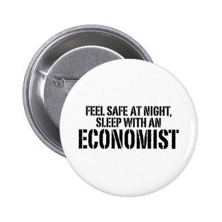 Economista divertido pin redondo 5 cm