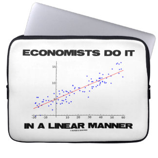 Economists Do It In A Linear Manner (Regression) Laptop Sleeves