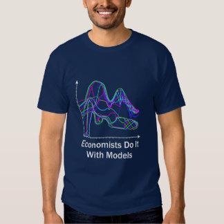 Economists Do It With Models Dark Color T-Shirt