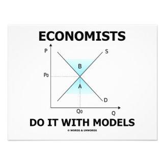 Economists Do It With Models (Economics Humor) Invitations