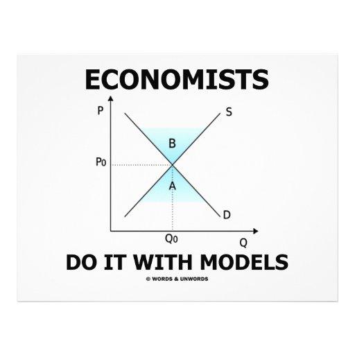 Economists Do It With Models (Economics Humor) Letterhead