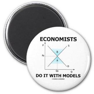 Economists Do It With Models (Economics Humor) Magnet
