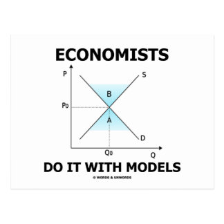 Economists Do It With Models (Economics Humor) Postcard