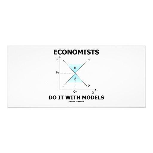 Economists Do It With Models (Economics Humor) Rack Card Design