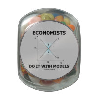 Economists Do It With Models (Supply Demand Curve) Jelly Belly Candy Jar