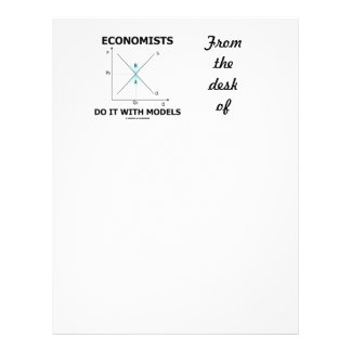 Economists Do It With Models (Supply Demand Curve) Custom Letterhead