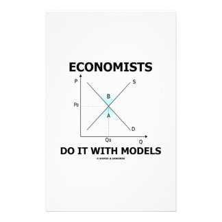 Economists Do It With Models (Supply Demand Curve) Stationery