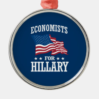 ECONOMISTS FOR HILLARY METAL ORNAMENT