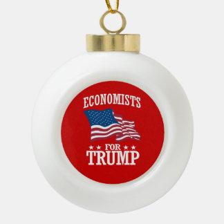 ECONOMISTS FOR TRUMP CERAMIC BALL CHRISTMAS ORNAMENT