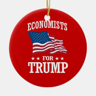 ECONOMISTS FOR TRUMP CERAMIC ORNAMENT