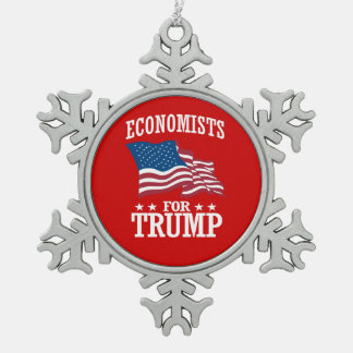 ECONOMISTS FOR TRUMP SNOWFLAKE PEWTER CHRISTMAS ORNAMENT