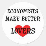 Economists Make Better Lovers Classic Round Sticker