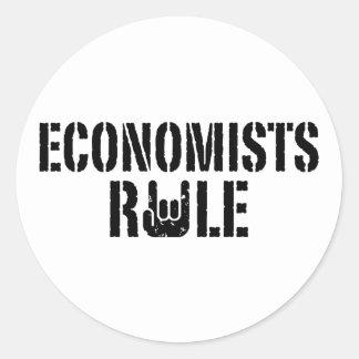 Economists Rule Classic Round Sticker