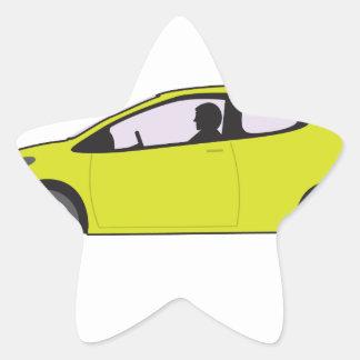 Economy Car Star Sticker