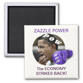 Economy Strikes Back 2 Inch Square Magnet