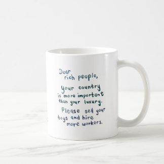 Economy unfair social justice unemployment art coffee mug