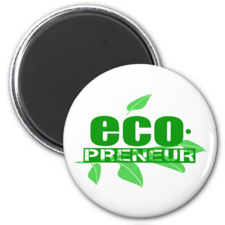 Ecopreneur With Leaves, Branch And Dot Hyphen Magnet