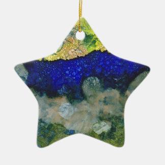 Ecos de un nuevo día adorno navideño de cerámica en forma de estrella