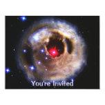 Ecos ligeros de un rojo supergigante invitación 10,8 x 13,9 cm