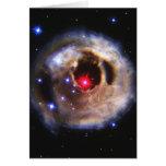 Ecos ligeros de un rojo supergigante tarjeta de felicitación