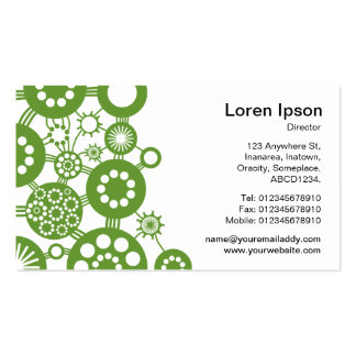 Ecosystem - Avocado Green on White Business Card