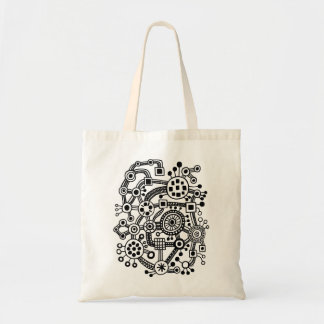 Ecosystem III - Black Canvas Bag