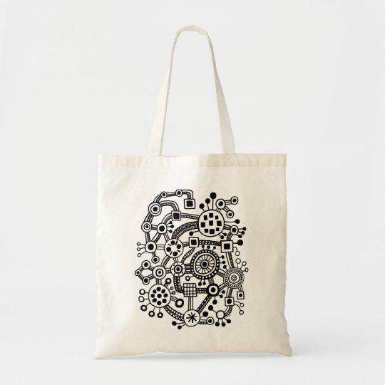 Ecosystem III - Black Tote Bag